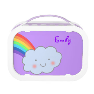 Smiling Cloud and Rainbow Lunch Box