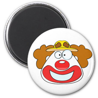 Smiling clown face 2 inch round magnet