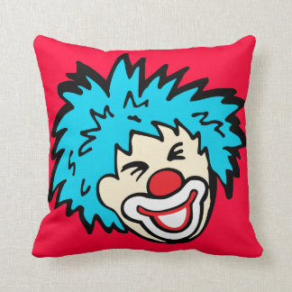 Smiling clown graphic pillow