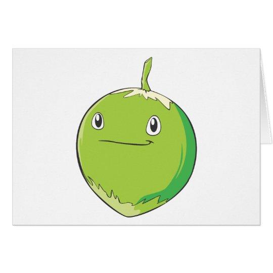 Smiling Coconut Fruit Card