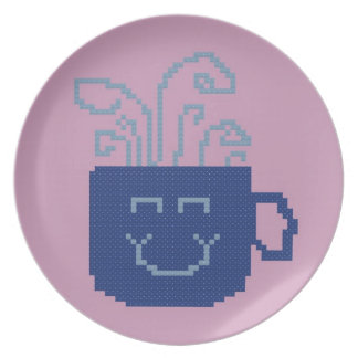 Smiling Coffee Cup Plate