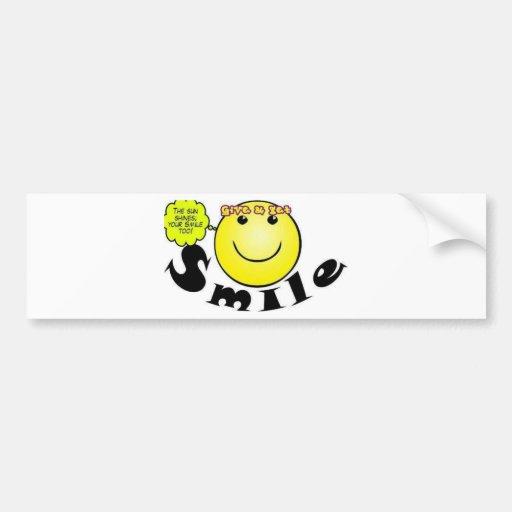 Smiling Concept Bumper Sticker