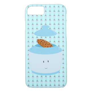 Smiling cookie jar showing cookie iPhone 8/7 case