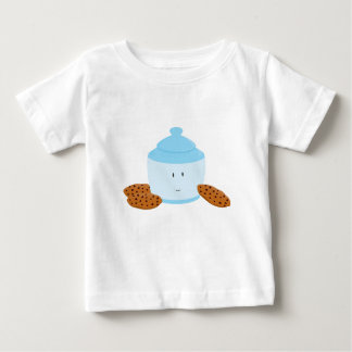 Smiling cookie jar with cookies around it infant t-shirt