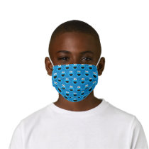 Smiling Cookie Monster Pattern Kids' Cloth Face Mask