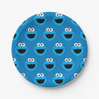 Smiling Cookie Monster Pattern Paper Plate