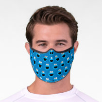 Smiling Cookie Monster Pattern Premium Face Mask