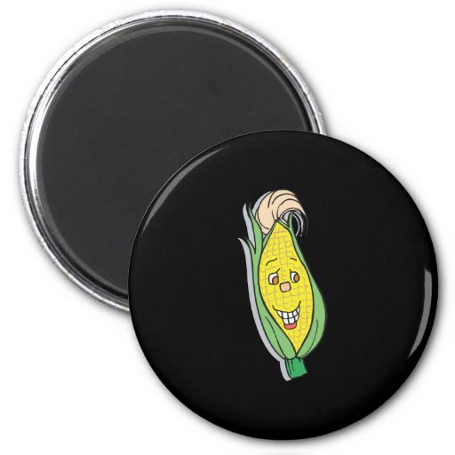 smiling corn character refrigerator magnets