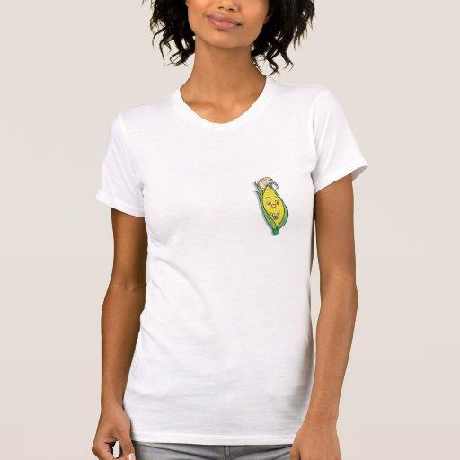smiling corn character shirt