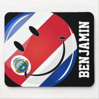 Smiling Costa Rican Flag Mouse Pad
