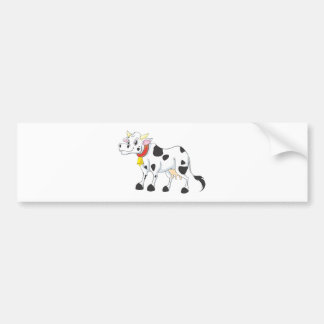 Smiling Cow Bumper Sticker