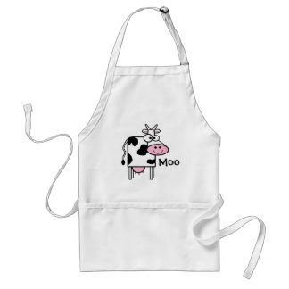 Smiling Cow Cute Animal Print Adult Apron