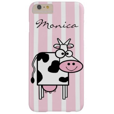 dancingpelican Smiling Cow Girly Animal Print Monogrammed Barely There iPhone 6 Plus Case