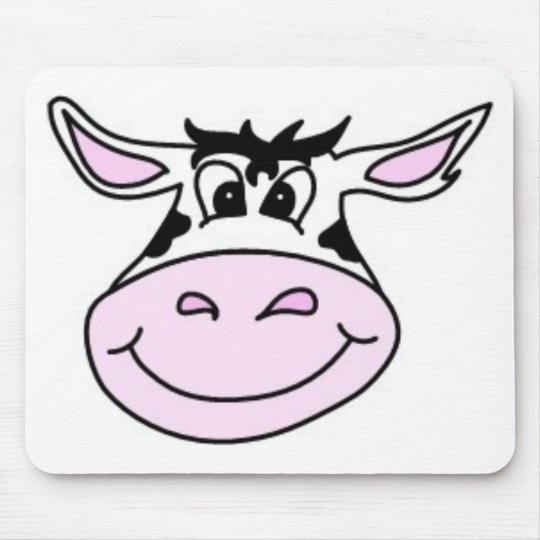 Smiling Cow Mouse Pad