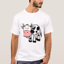 Smiling Cow with Daisies T-Shirt