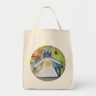 Smiling Creauture Hug Sun Abstract Art  Tote Bag