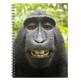 Smiling Crested Celebes Macaque Spiral Notebook