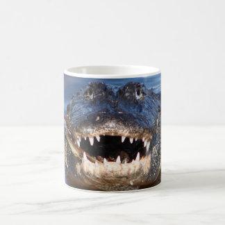 Smiling Crocodile Classic White Coffee Mug