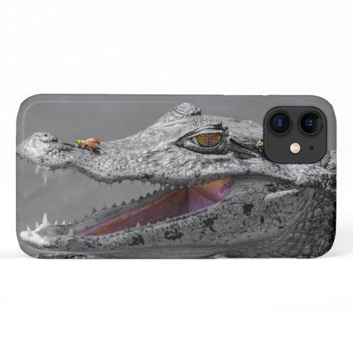 Smiling crocodile in Tortuguero - Costa Rica iPhone 11 Case