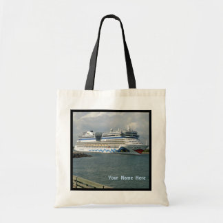 Smiling Cruise Ship Personalized Tote Bag