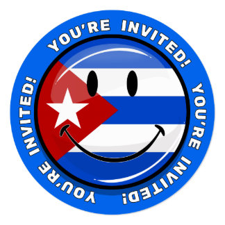 Smiling Cuban Flag Card