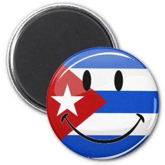 Smiling Cuban Flag Magnet