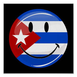 Smiling Cuban Flag Poster
