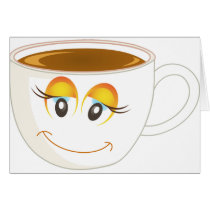 Smiling Cup of Coffee - Female