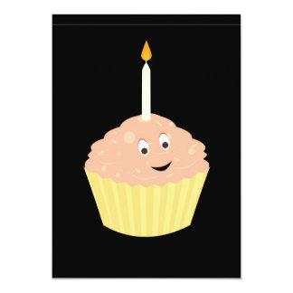Smiling cupcake card
