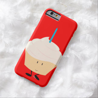 Smiling cupcake with blue candle barely there iPhone 6 case