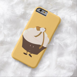 Smiling cupcake with flower and bow barely there iPhone 6 case