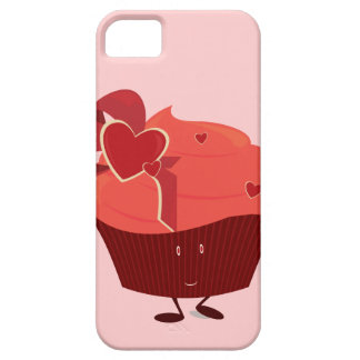 Smiling cupcake with heart decoration iPhone SE/5/5s case