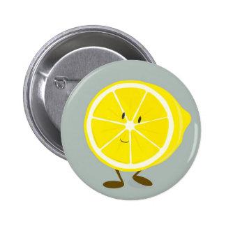 Smiling cut lemon pin