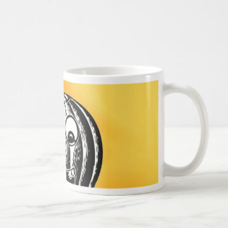 Smiling cute baby pumpkin coffee mug