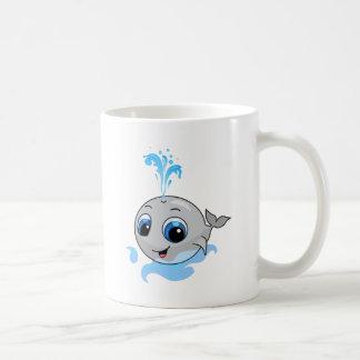 Smiling cute funny baby whale coffee mug