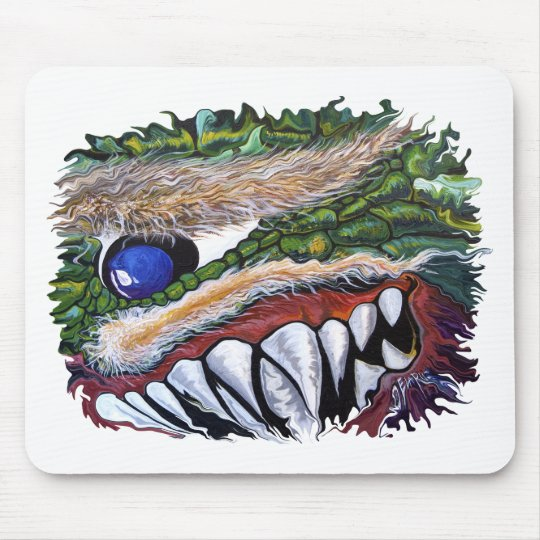 Smiling Cycloptic Dragon Mouse Pad