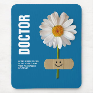 Smiling Daisy Design Gift Mousepads for Doctors