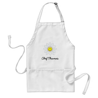 Smiling Daisy Flower Adult Apron