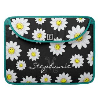 Smiling Daisy Flower MacBook Pro Sleeve