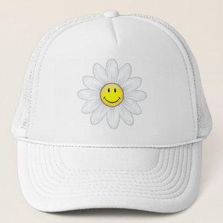 Smiling Daisy Flower Trucker Hat