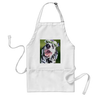 Smiling Dalmatian Dog Adult Apron