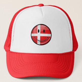 Smiling Denmark Danish Flag Trucker Hat