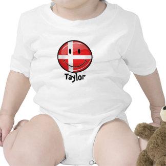 Smiling Denmark Danish Flag Bodysuit