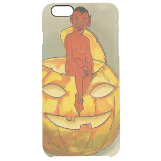 Smiling Devil Jack O' Lantern Pumpkin Clear iPhone 6 Plus Case