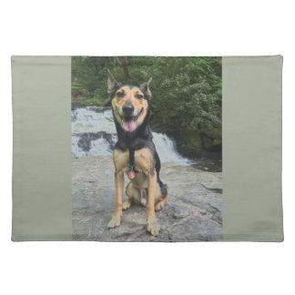 Smiling Dog on Rock Placemat