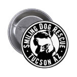 Smiling Dog Rescue 2 Inch Round Button
