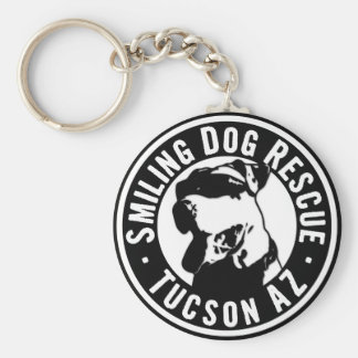 Smiling Dog Rescue Keychain