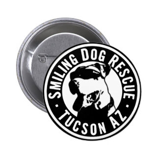 Smiling Dog Rescue Pinback Button