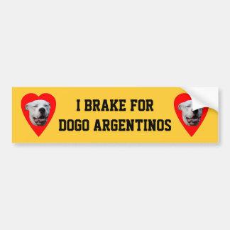 Smiling Dogo Argentino Car Bumper Sticker
