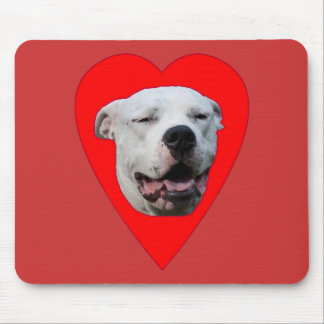 Smiling Dogo Argentino Mouse Pad